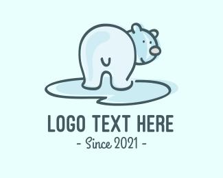 Teddy - Polar Bear Cartoon logo design