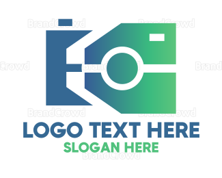 Camera Rental - Polygonal Camera  logo design