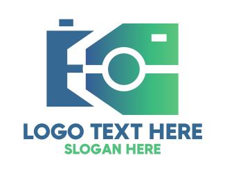 Polygonal - Polygonal Camera logo design
