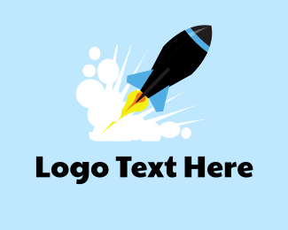 Launching - Black Rocket logo design