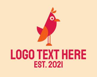 Baby Bird - Cute Cartoon Bird logo design