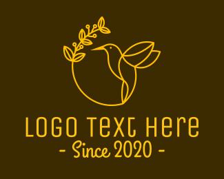 Colibri - Yellow Hummingbird Spa logo design
