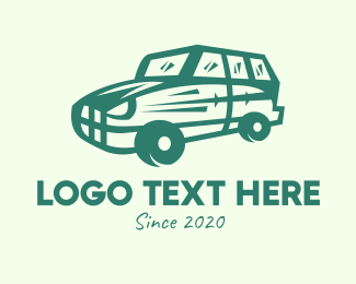 Suv - Green SUV Car logo design