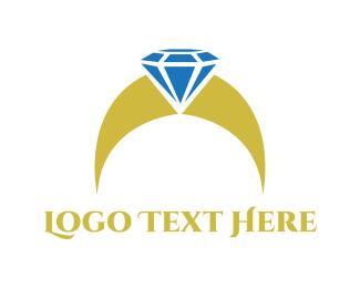 Amber - Diamond Ring  logo design