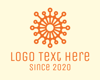 Pathogen - Orange Virus  logo design