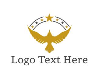Veterans - Golden Eagle logo design