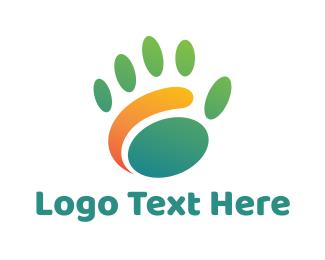 Baby Supplies - Abstract Palm Print logo design