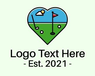 Golf - Golf Course Love logo design