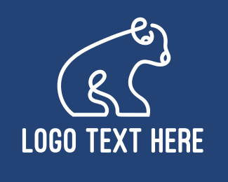 Polar - Abstract Polar Bear Cub logo design