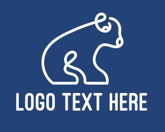 Travel Agency - Modern Polar Outline logo design