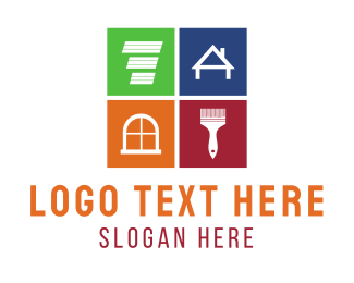 Coloring - Home Renovation, Remodeling & Repair logo design