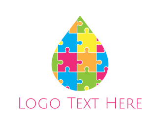 Learning - Puzzle Drop logo design