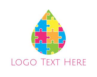 Daycare - Puzzle Drop logo design