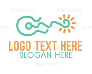 Fest - Bright Guitar  logo design