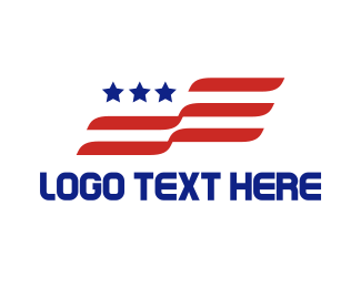 New York - Futuristic USA Flag logo design