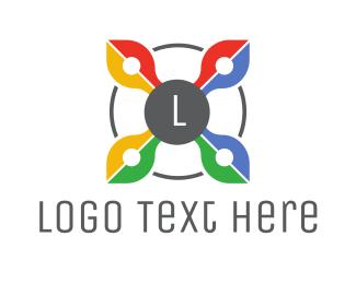 Web Browser - Colorful Drone Lettermark  logo design