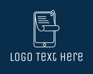 Mobile Phone - Paper Mobile Phone logo design
