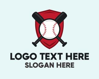 Shield - Baseball Shield Emblem logo design