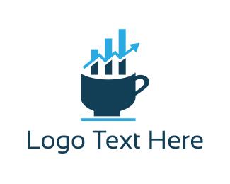 Economy - Coffee Chart logo design