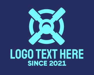 Target Locked - Blue Target Tools logo design