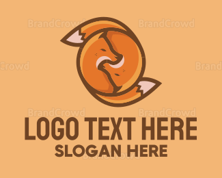Fox Couple logo design
