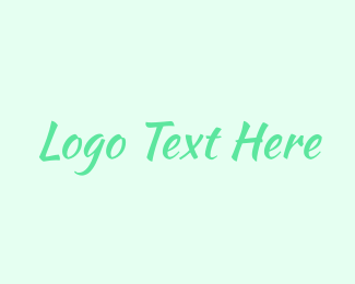 Brushstroke - Green Brushstroke Wordmark logo design
