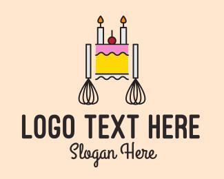 Bakery - Birthday Cake Shop logo design