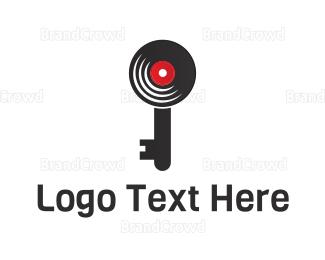 Key - Record Key logo design