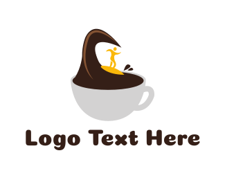 Surfing - Surf Coffee logo design