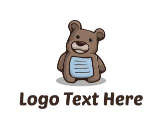 Teddy Bear - Brown Teddy Bear logo design