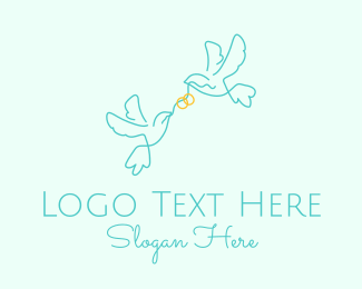 Wedding Coordinator - Wedding Dove Ring  logo design