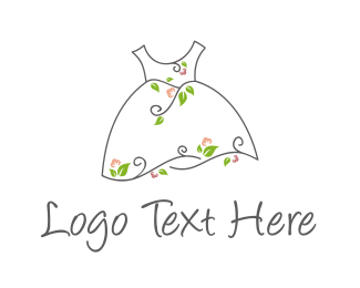 Cotton - Natural Dress logo design