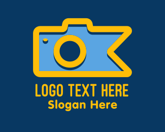 Instagram - Bookmark Camera logo design
