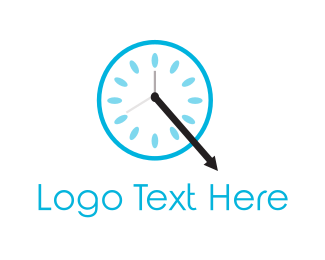 Minute - Blue Clock logo design