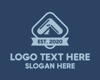 Mountain Peak - Blue Mountain Capsule logo design