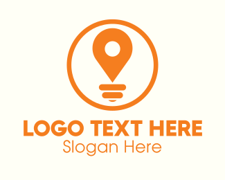 Light Bulb - Locator Light Bulb logo design