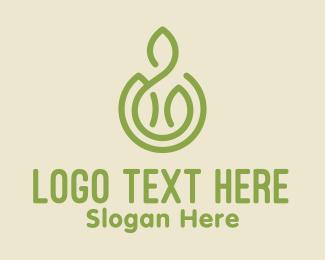 Salad Restaurant - Green Organic Farm logo design