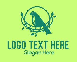 Nest - Tree Bird Nest logo design