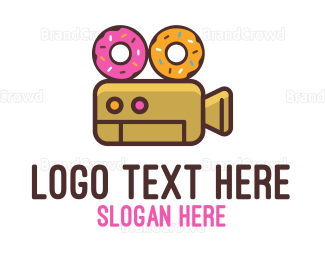 Filming - Donuts & Movies logo design