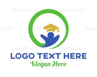 Degree - Education Circle logo design