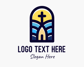 Holy Place - Stained Glass Window  logo design