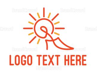 Store - Abstract Stiletto Outline  logo design