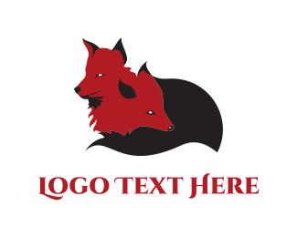 Red Fox - Little Foxes logo design