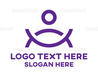 Soup - Human Bowl  logo design
