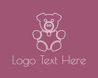Pork - Pink Pig logo design