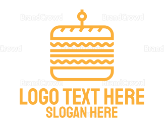 Bread - Yellow Stroke Sandwich logo design