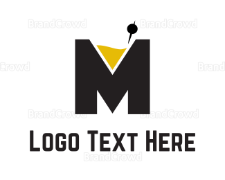Bartending - Cocktail Letter M logo design