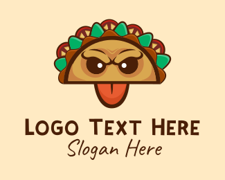 Fast Food Chain - Mexican Taco Monster logo design