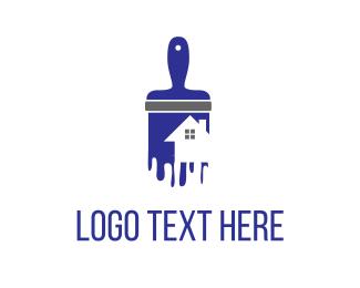 Paint - House Painting logo design