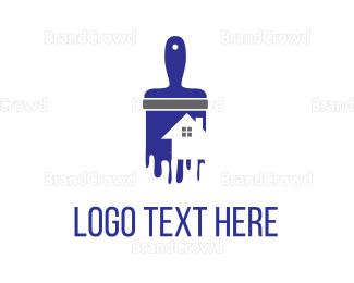 Vertical - House Painting logo design